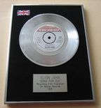 ELTON JOHN - SONG FOR GUY PLATINUM Single Presentation Disc